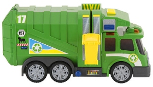 green trash truck